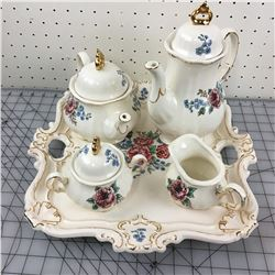 TEA AND COFFEE SERVICE (CHIPS ON TEA POT LID) *PORCELAIN*