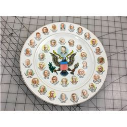 PRESIDENTS PLATE VINTAGE USA (PAST USA PRESIDENTS) *VINTAGE*