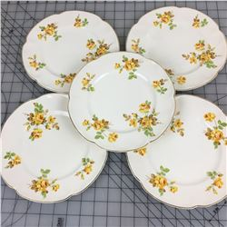"PAREEK LOT OF 5 DECORATIVE PLATES (JOHNSON BROS)  *8""*"