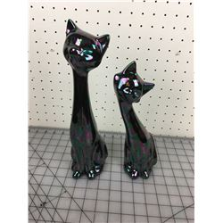 LOT OF 2 CAT FIGURINES