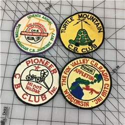 LOT OF CB RADIO CLUB PATCHES (VINTAGE)
