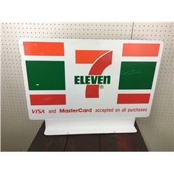 DOUBLE SIDED METAL FLANGE STANDING 7-11 SIGN
