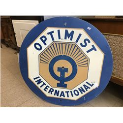 "DOUBLE SIDED OPTIMIST INTERNATIONAL SIGN (30"")"