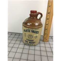 PLATTE VALLEY CHEN WHISKEY LIQUOR BOTTLE JUG (VINTAGE)