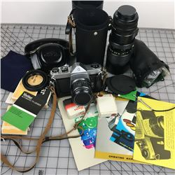 CAMERA, LENSES AND ACCESSORIES (PENTAX) *VINTAGE*