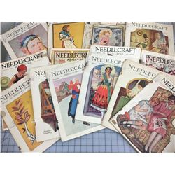 LOT OF 13  NEEDLECRAFT MAGAZINES (1920S & 30S)