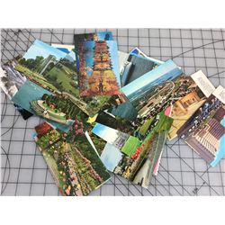 LOT OF 30 POSTCARDS (UNUSED)