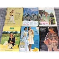 LOT OF 6 SEARS CATALOGS ( VINTAGE )