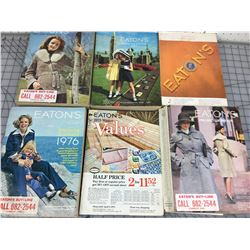 LOT OF 6 SEARS CATALOGS (VINTAGE)