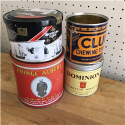 LOT OF 4 TOBACCO TINS