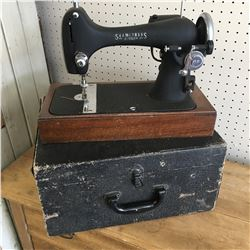 SEAMSTRESS SEWING MACHINE WITH CASE (NO CORD)