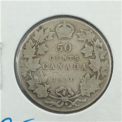 1910 CNDN 50 CENT PC * SILVER *