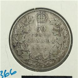 1912 CNDN 50 CENT PC * SILVER *
