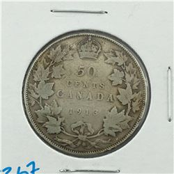 1913 CNDN 50 CENT PC * SILVER *