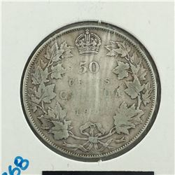 1917 CNDN 50 CENT PC * SILVER *