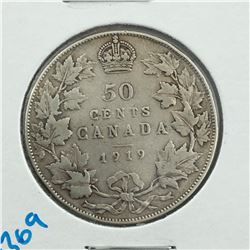1919 CNDN 50 CENT PC * SILVER *
