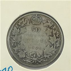 1920 CNDN 50 CENT PC * SILVER *