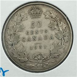 1931 CNDN 50 CENT PC * SILVER *