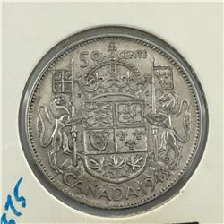 1943 CNDN 50 CENT PC * SILVER *