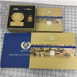 BOOK & COMMEMORATIVE SET (JAMES RICHARSON & SONS CELEBRATING 150 YEARS)