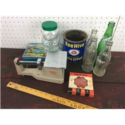 MISC LOT (BOTTLE SCALE JAR)