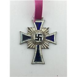 WWII 1938 SILVER MOTHER'S CROSS (NAZI GERMAN)