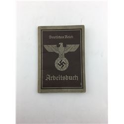 EMPLOYMENT BOOK (WWII NAZI GERMAN)