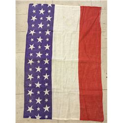 "OLD FRENCH FLAG BANNER W/AMERICAN STARS *34"" X 24""*"