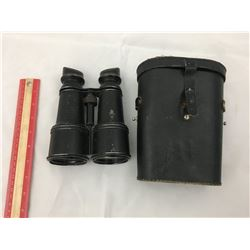 BINOCULARS & CASE (CHEVALIER PARIS FRANCE ANTIQUE BRASS)