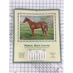 ADVERTISING CALENDAR (1963 FEDERAL GRAIN LIMITED) *15 X 13*
