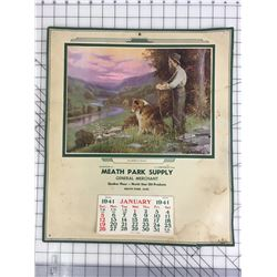 "ADVERTISING CALENDAR (1944 NORTH STAR OIL. MEATH PARK, SASK) *17 1/2"" X 15""*"