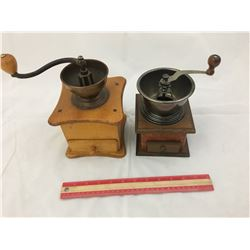 LOT OF 2 COFFEE GRINDERS