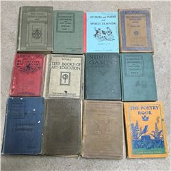 LOT OF SCHOOL BOOKS (ANTIQUE & VINTAGE)