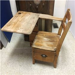 CHILD'S DESK (VINTAGE, WOODEN)