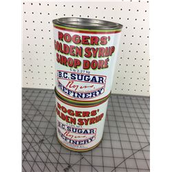 LOT OF TWO 5 LB. 'ROGERS' SYRUP TINS