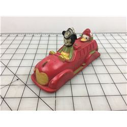 1940S SUNRUCO MICKEY MOUSE FIRE TRUCK (VICEROY TOY)