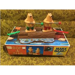 MARX TOYS BOP A BEAR GAME (SOLD BY SEARS W/BOX) *VINTAGE*
