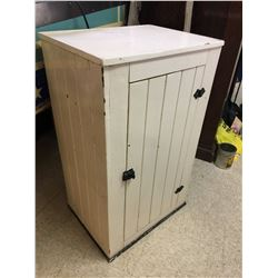 "PRIMITIVE STYLE PAINTED CUPBOARD *37"" X 22"" X 17""*"