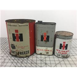 LOT OF 'INTERNATIONAL HARVESTER' OIL CAN RELATED