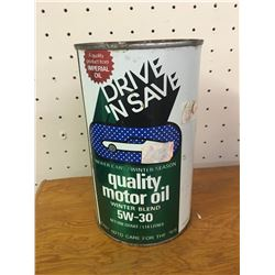 1 QUART DRIVE N SAVE 'UNOPENED' OIL CAN