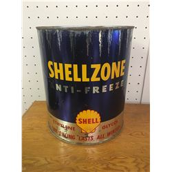 1 GALLON SHELL SHELLZONE ANTIFREEZE CAN