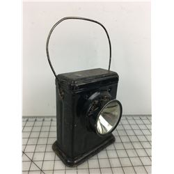 BATTERY OP. RAILWAY LANTERN, (GIFTED & INSCRIBED 1925)