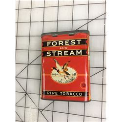 FOREST AND STREAM' PIPE TOBACCO POCKET TIN