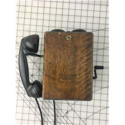 ANTIQUE' NORTHERN ELECTRIC CRANK WALL PHONE