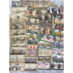 LARGE STEREOSCOPE CARD LOT