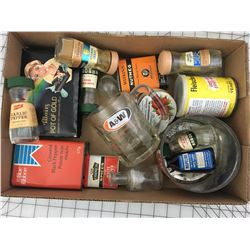 LOT OF 'VINTAGE' TINS, SPICE SHAKERS ETC.