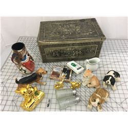 LARGE TIN OF MISC ITEMS