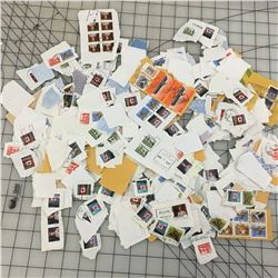 LARGE LOT OF 'USED CANADIAN' POSTAL STAMPS