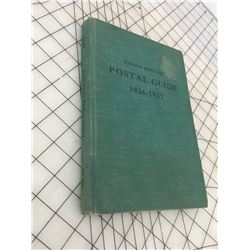 1936-37 CANADA OFFICIAL POSTAL GUIDE *RULES REGULATIONS, RATES, ETC.*
