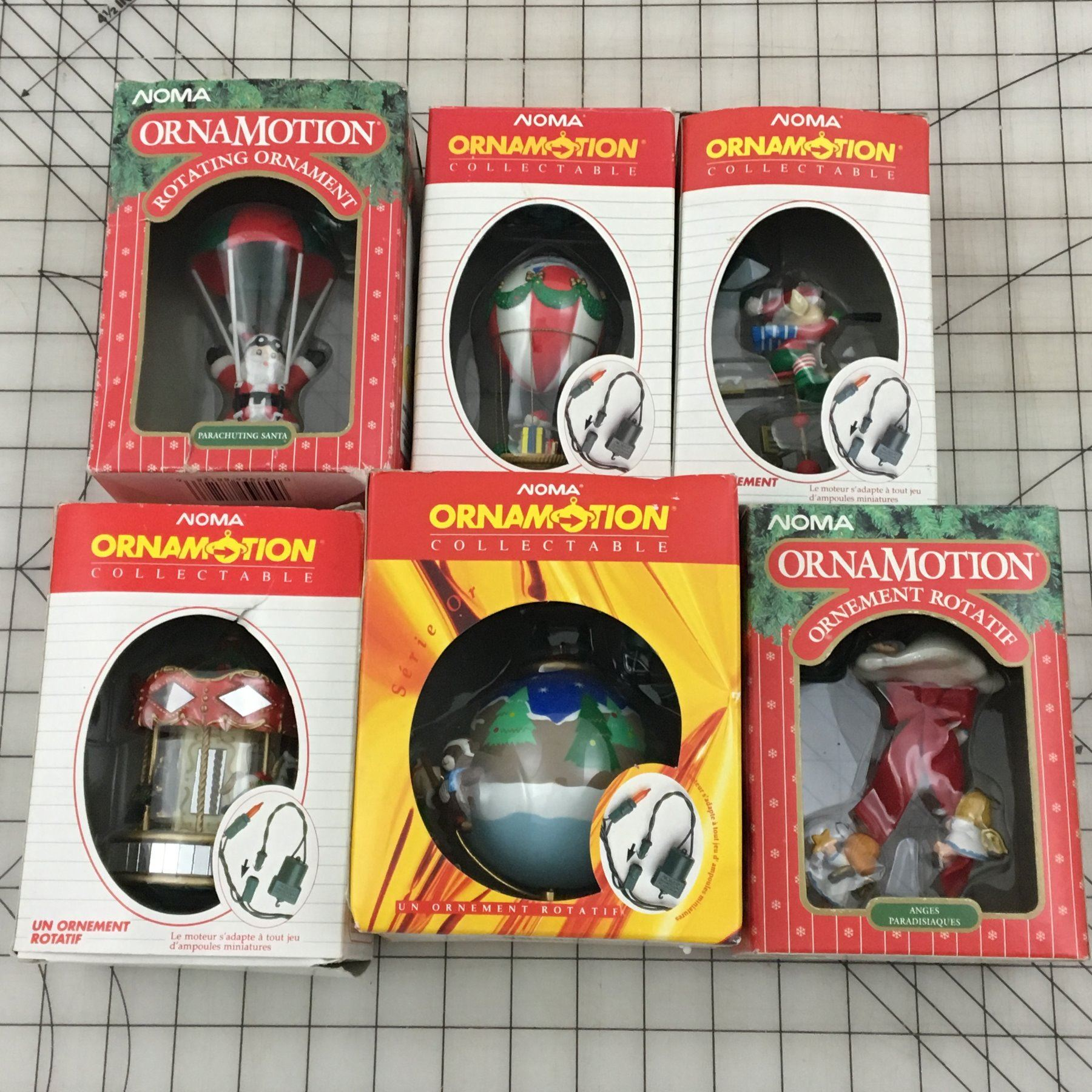 Noma Christmas Decorations: LOT OF NOMA CHRISTMAS ORNAMENTS IN BOX